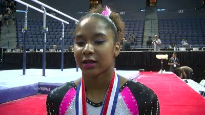 Jordan Chiles on Amanar Getting Better and Better - Secret Classic 2016