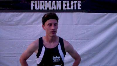 Colby Alexander after winning Furman 1500