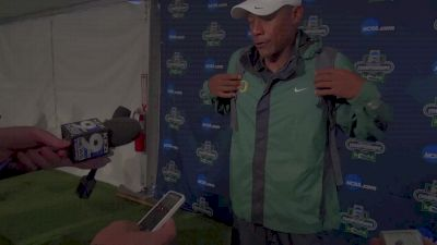 Coach Robert Johnson after a good Day 1 for the Ducks