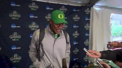 Coach Robert Johnson after Oregon men take 4th