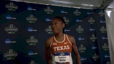 Courtney Okolo after winning NCAA 400 and 4x400 for Texas, caps historic career