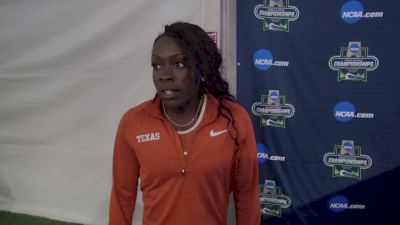 Morolake Akinosun of Texas after her last collegiate meet