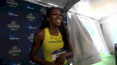 Raevyn Rogers after winning her second straight NCAA title