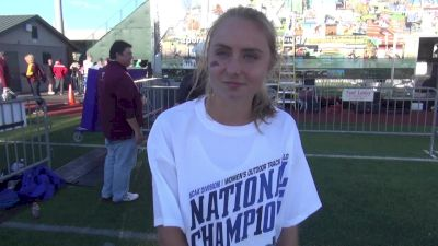 Devin Clark after another American junior record in the steeple