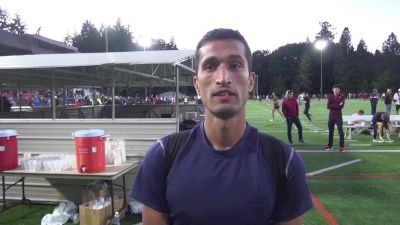 Wais Khairandesh after breaking the Afghanistan national record in the 800