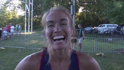 Rachel Schneider after 2nd in Boston 1500