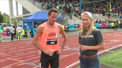 Ok State's Josh Thompson after his 1500m victory