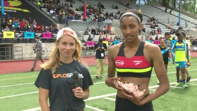 Sammy Watson after her 800m victory