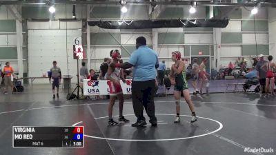 100 lbs Kurt McHenry, VA vs Trey Crawford, MO Red