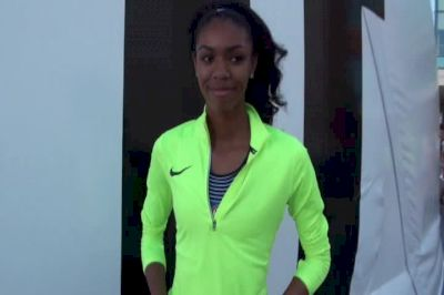 Vashti Cunningham after advancing to Oly Trials finals
