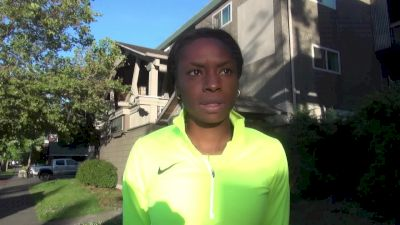 Believe it or not, Courtney Okolo gets nervous