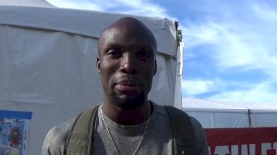 LaShawn Merritt after 400m victory, heading into 200 finals