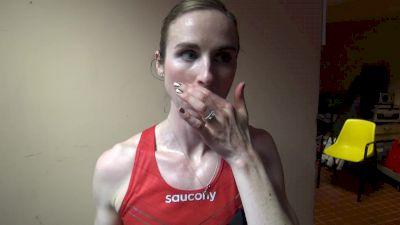 Nicole Sifuentes happy about 10 sec 3k PB in Monaco