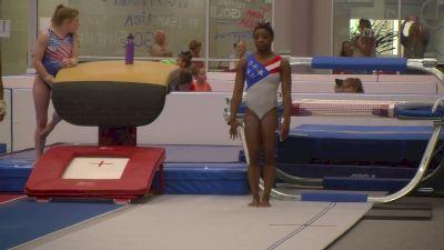 Simone Biles Nails Amanar in Training