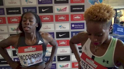 McCorory and Hastings after their 400 in London