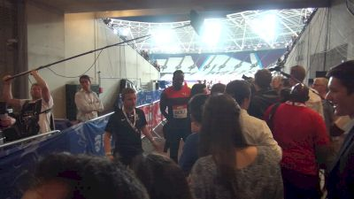 Usain Bolt after dominating London 200m victory