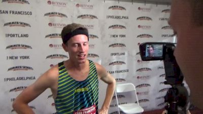 Colby Alexander after running a huge PR and beating 3 Olympians