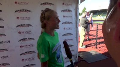Jordan Hasay on the heat during the 4 mile road race, the atmosphere of the Summer Series