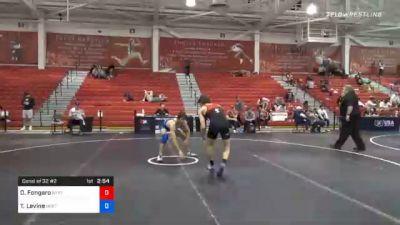 65 kg Consolation - Danny Fongaro, New York City RTC vs Timothy Levine, New England Regional Training Center