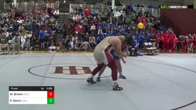 285 lbs Final - Mack Brown, Brother Martin vs Perry Ganci