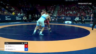 67 kg Quarters - Hayden Tuma, Suples Wrestling Club vs Peyton Omania, New York Athletic Club