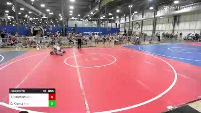106 lbs Round Of 16 - Tanner Paustian, Moen Wrestling Academy vs Chase Krantz, Blue Line Training Academy