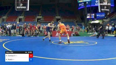 152 lbs Cons Semis - Kevin Contos II, Ohio vs Kaden Reetz, Wisconsin