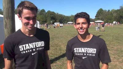 Stanford's Sean McGorty and Grant Fisher did a workout before race and believe Stanford will contend for title this year