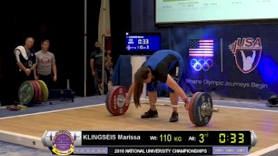 USAW Uni & U25 Nationals Highlights - Marissa Klingseis