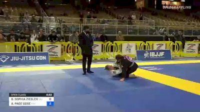 BELLA SOPHIA ZIESLER vs AVERY PAGE GOSE 2021 Pan Jiu-Jitsu IBJJF Championship