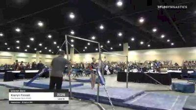 Kieryn Finnell - Bars, Rochester Gym #143 - 2021 USA Gymnastics Development Program National Championships