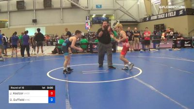 60 kg Round Of 16 - Jace Koelzer, Northern Colorado vs Dalton Duffield, NYAC/NMU