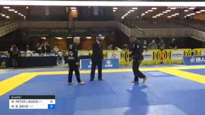 MATTHEW PETER LIGOZIO vs MICHAEL B. DAVIS 2020 World Master IBJJF Jiu-Jitsu Championship