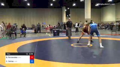 74 kg Semifinal - Baylor Fernandes, Gopher Wrestling Club - RTC vs Cade DeVos, Jackrabbit Wrestling Club