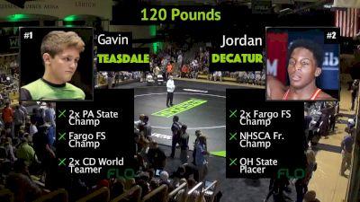 120 lbs Jordan Decatur, OH vs Gavin Teasdale, PA