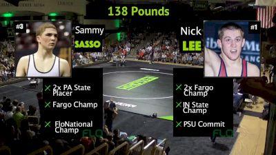 138 lbs Sammy Sasso, PA vs Nick Lee, IN