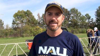 NAU Coach Eric Heins ecstatic after Lumberjacks Wisconsin victory