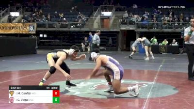125 lbs 3rd Place - Manuel Canfijn, West Chester University vs Chris Vega, Springfield Technical Community College
