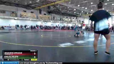 50 lbs Round 2 (4 Team) - Jenavieve Sprague, Tennessee vs Evelyn Wilson, Black Mambas Blue