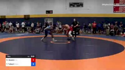 74 kg Round Of 32 - Ryan Deakin, Titan Mercury Wrestling Club (TMWC) vs Tony Tolbert, Pennsylvania RTC
