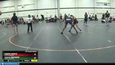 185 lbs 1st Place Match - Tomas Brooker, North Carolina vs Cason Howle, South Carolina