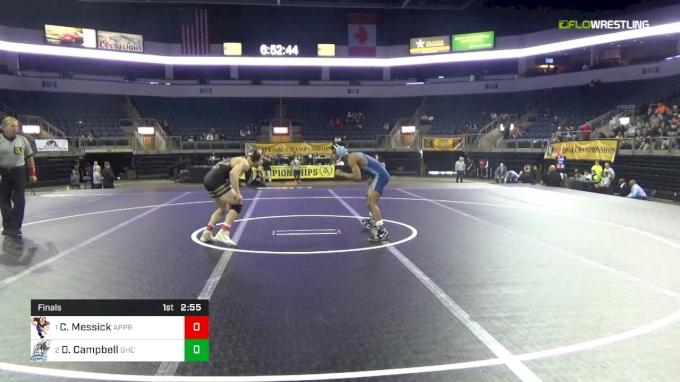 125 lbs Final - Colton Messick, The Apprentice School vs