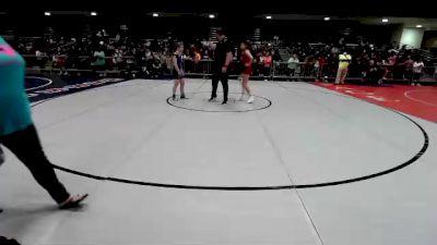 130 lbs Round Of 16 - SaVannah Cosme, CO vs Hailie Misplay, NC