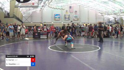 70 kg Consi Of 32 #2 - Kenan Carter, Virginia Beach Regional Training Center vs AC Headlee, Sunkist Kids Wrestling Club