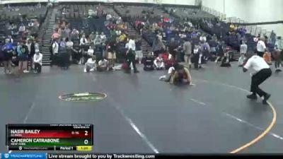 135 lbs Semifinal - Nasir Bailey, Illinois vs Cameron Catrabone, New York