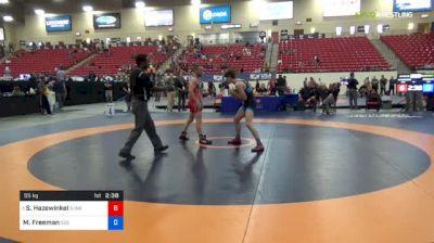 55 kg Quarters - Sam Hazewinkel, Sunkist Kids Wrestling Club vs Michael Freeman, 505 WC