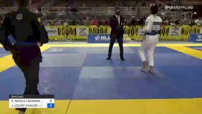 KARINA NICOLE LAGRANA vs JILLIAN LOUISE CHALKE 2021 Pan Jiu-Jitsu IBJJF Championship