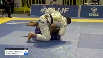 GUSTAVO ESPINDOLA BATISTA vs ADAM WARDZINSKI 2021 Pan Jiu-Jitsu IBJJF Championship