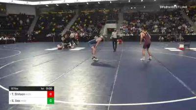 157 lbs Quarterfinal - Tyler Shilson, Augsburg University vs Sean Sax, Westminster College