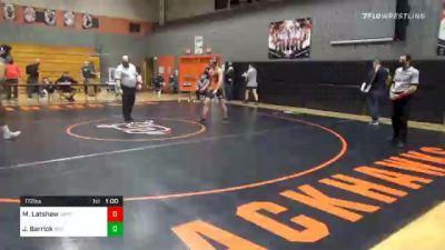 172 lbs Consolation - Matthew Latshaw, Upper Dauphin Area vs Jaydan Barrick, Boiling Springs